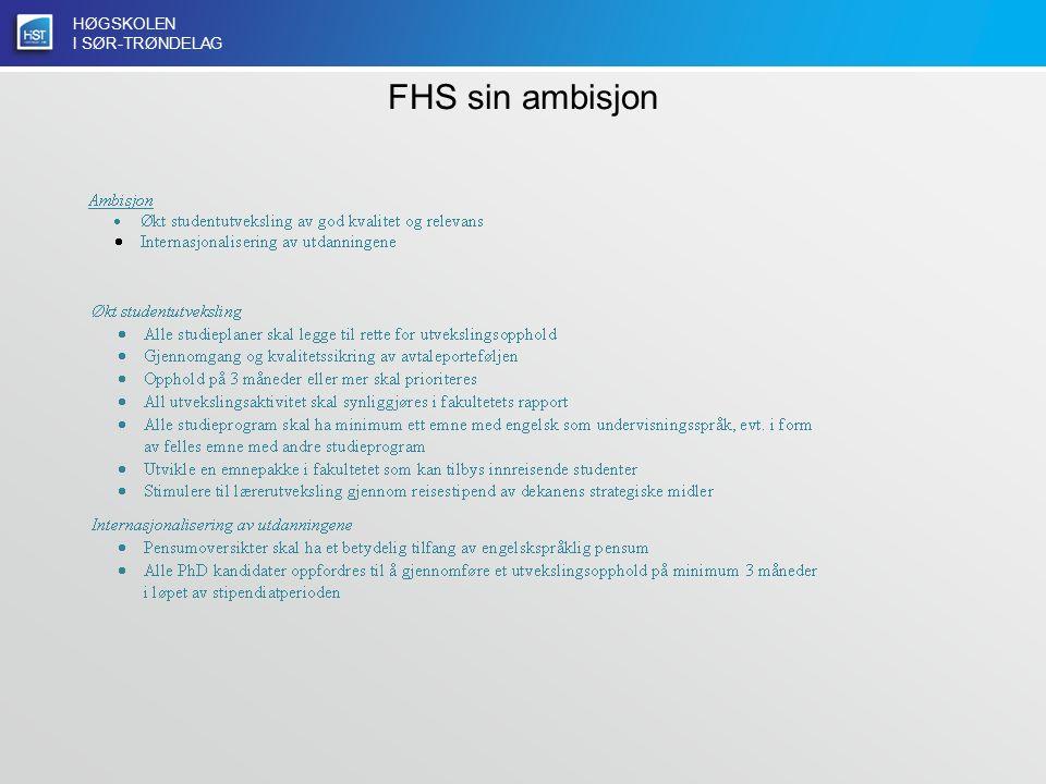 HØGSKOLEN I SØR-TRØNDELAG FHS sin ambisjon