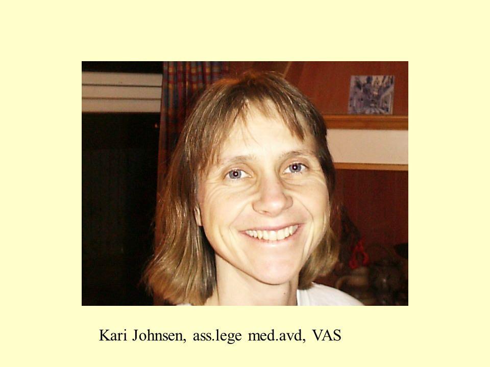 Kari Johnsen, ass.lege med.avd, VAS