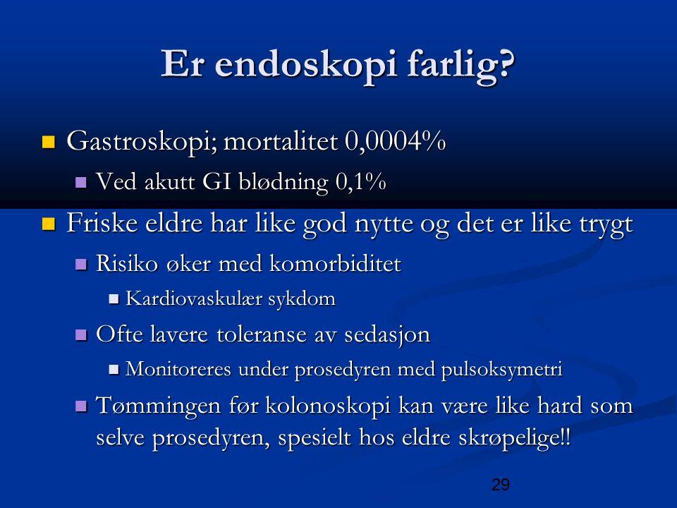 29 Er endoskopi farlig.