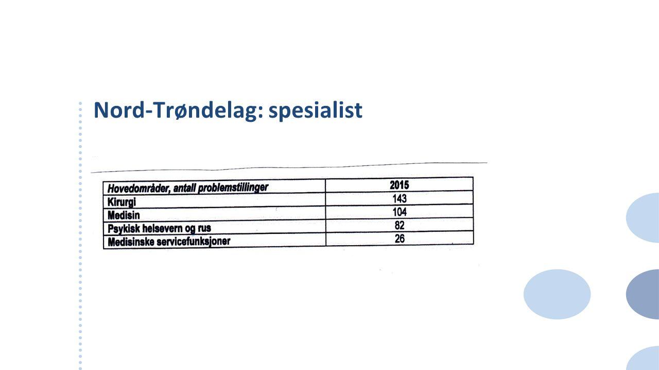 Nord-Trøndelag: spesialist