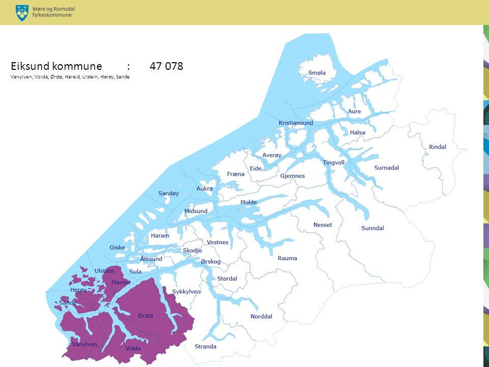 Eiksund kommune : 47 078 Vanylven, Volda, Ørsta, Hareid, Ulstein, Herøy, Sande