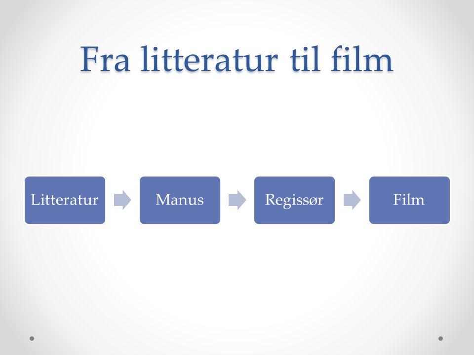 Fra litteratur til film LitteraturManusRegissørFilm