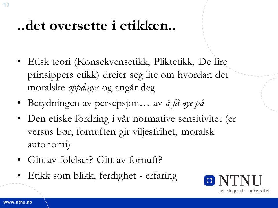 13..det oversette i etikken..