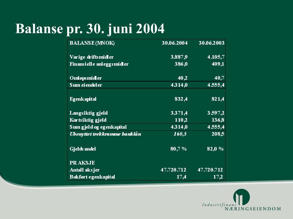 Balanse pr. 30. juni 2004