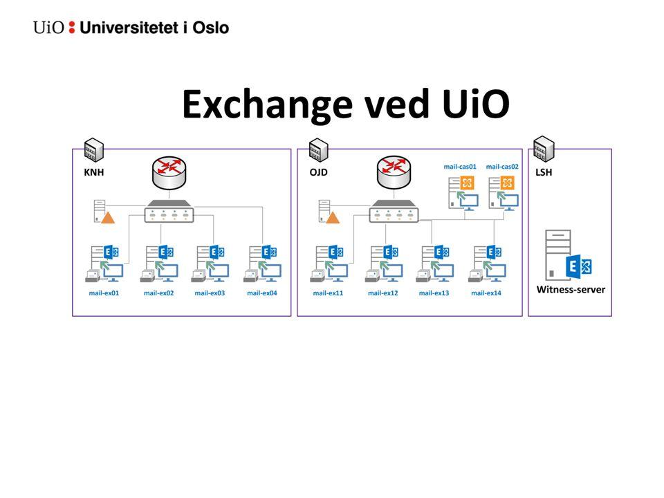 Hvordan se e-post og kalender Exchange 2013 Outlook 2010, 2013, 2016 OWA via en nettleser (mail.uio.no) kiosk.uio.no Her ligger dine e-post og kalenderdata