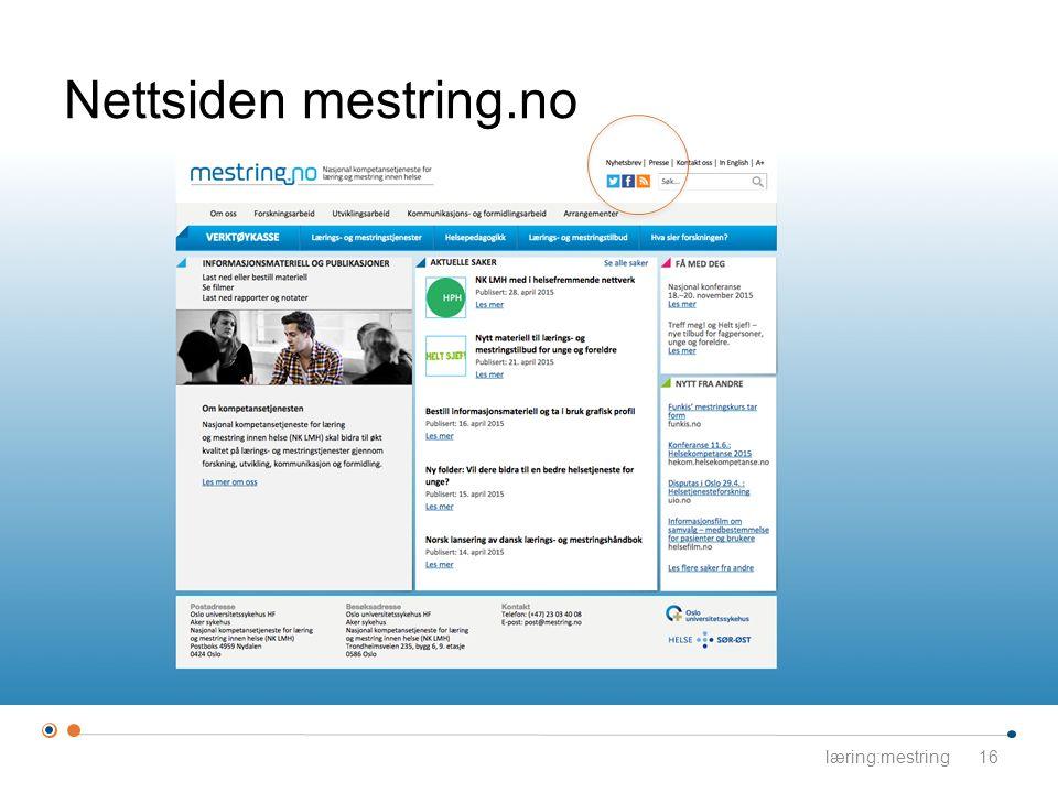 Nettsiden mestring.no læring:mestring16