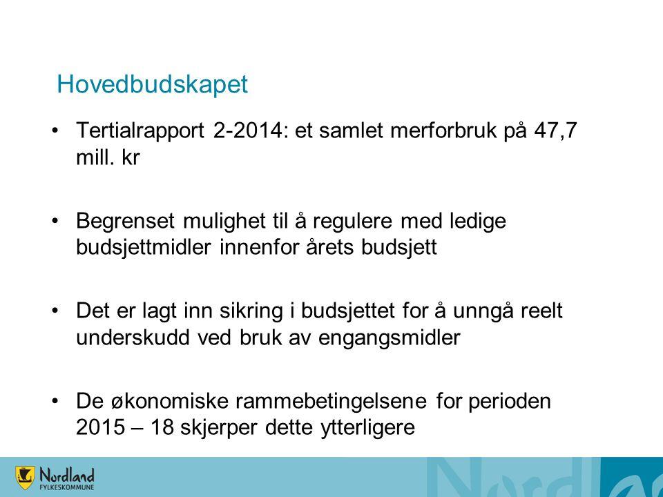 Hovedbudskapet Tertialrapport 2-2014: et samlet merforbruk på 47,7 mill.