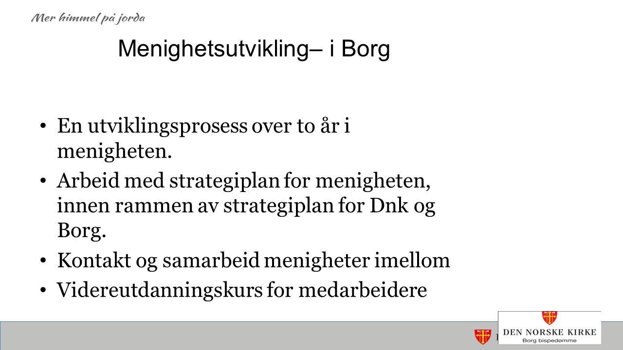 Menighetsutvikling– i Borg En utviklingsprosess over to år i menigheten.