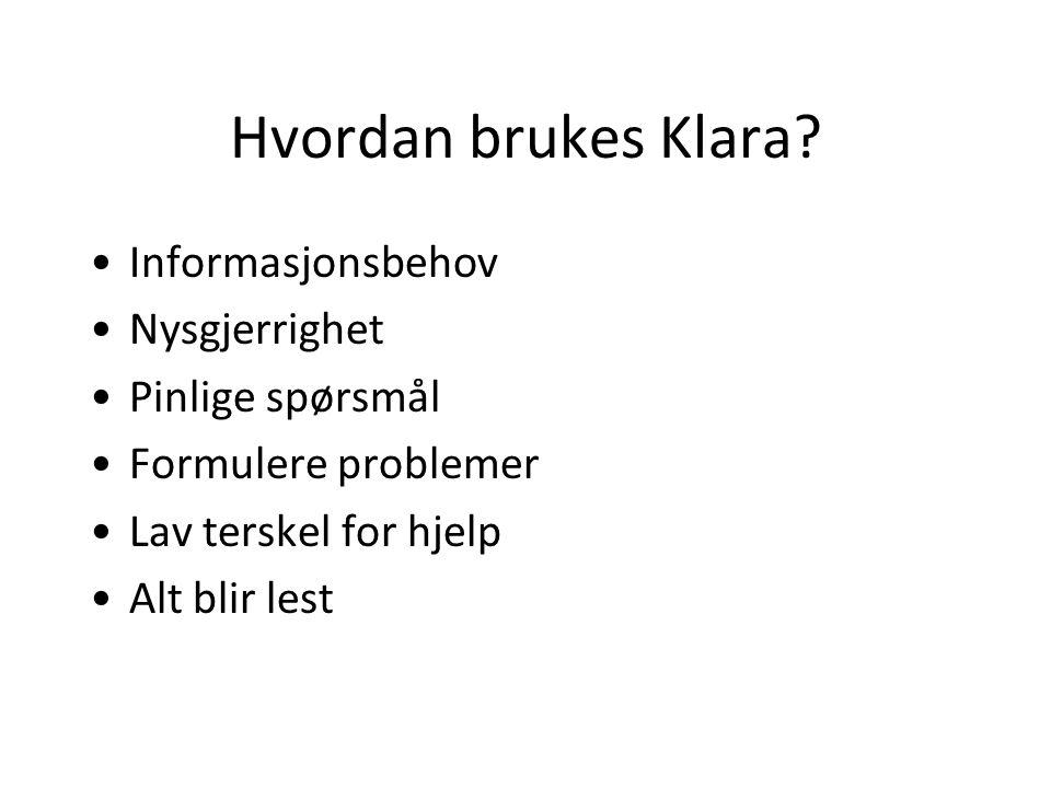 Hvordan brukes Klara.