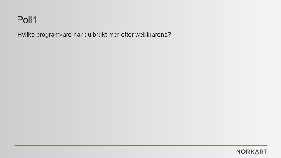 Poll1 Hvilke programvare har du brukt mer etter webinarene