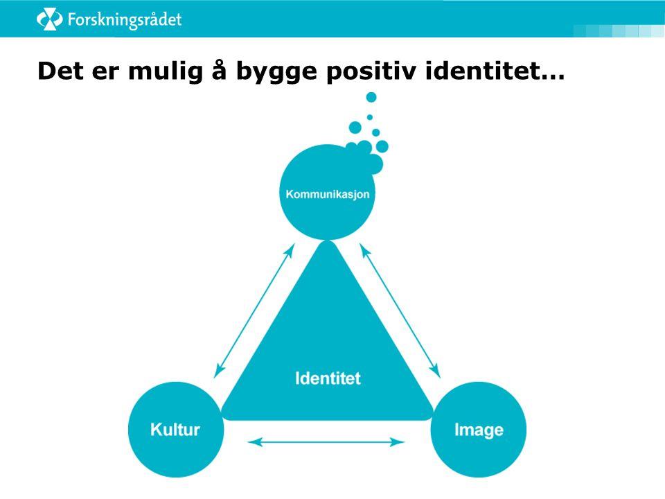 Det er mulig å bygge positiv identitet…