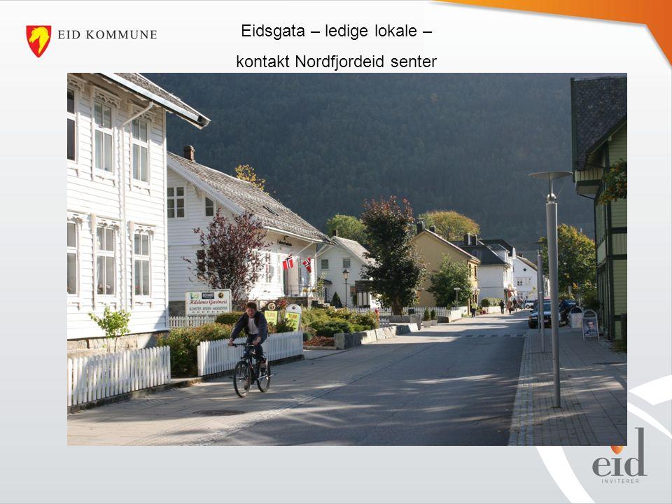 Eidsgata – ledige lokale – kontakt Nordfjordeid senter
