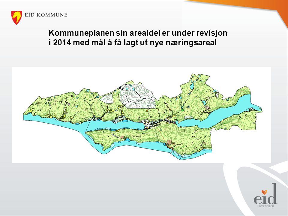 Kommuneplanen sin arealdel er under revisjon i 2014 med mål å få lagt ut nye næringsareal