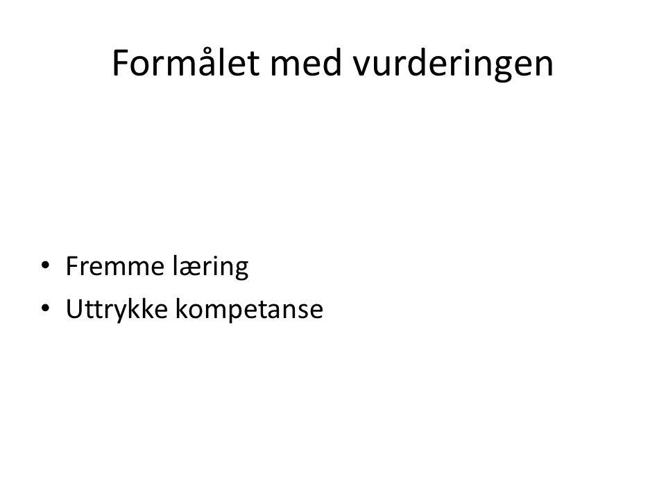 FØRING AV FRAVÆR PÅ VITNEMÅLET BESTEMMELSER FRA 1.8.2010