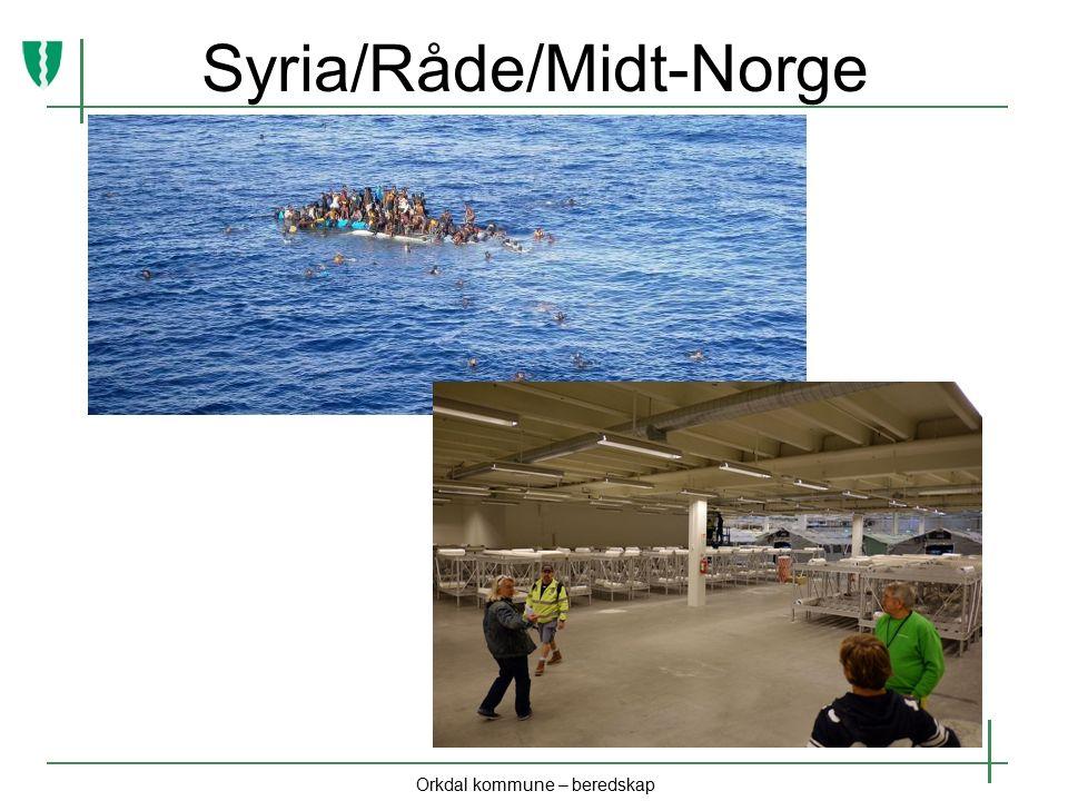 Syria/Råde/Midt-Norge Orkdal kommune – beredskap