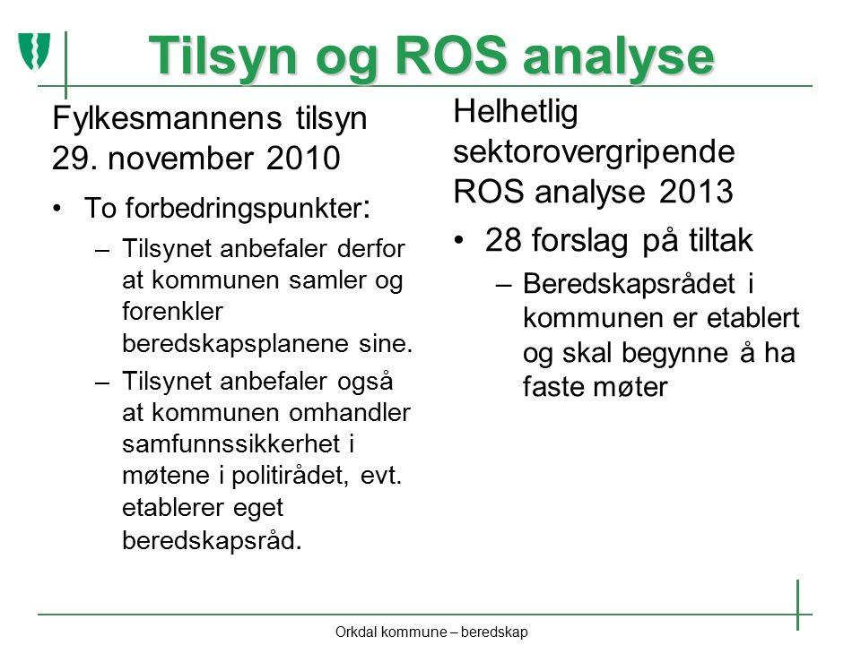 Tilsyn og ROS analyse Fylkesmannens tilsyn 29.
