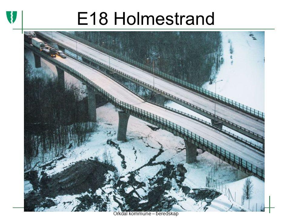 E18 Holmestrand Orkdal kommune – beredskap