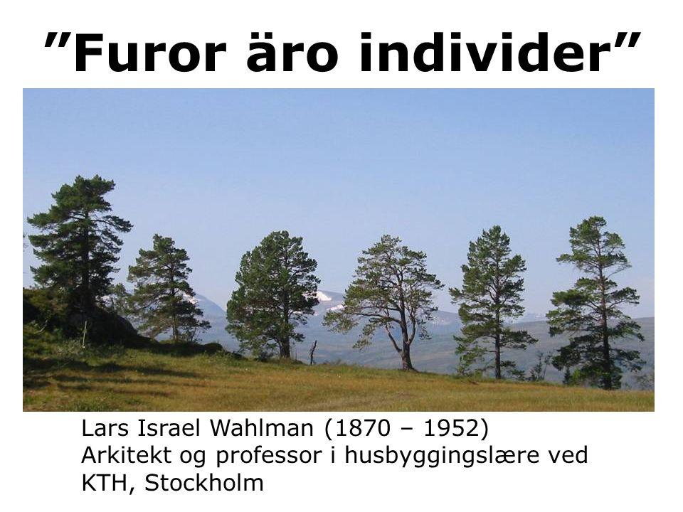 """Lars Israel Wahlman (1870 – 1952) Arkitekt og professor i husbyggingslære ved KTH, Stockholm """"Furor äro individer"""""""