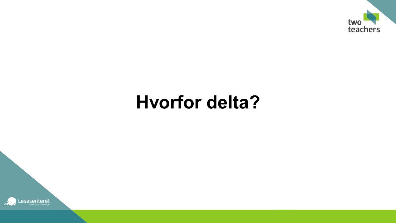 Hvorfor delta