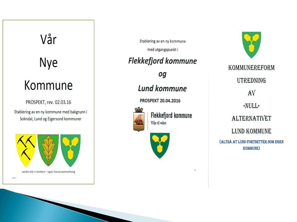  Alternativ 1: Eigersund, Lund og Sokndal  Alternativ 2: Flekkefjord og Lund  Alternativ 3: Lund