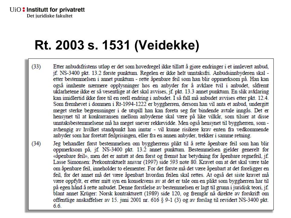 Rt. 2003 s. 1531 (Veidekke)