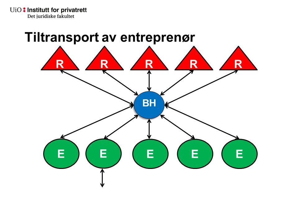 R Tiltransport av entreprenør RRRR E E EEE UE BH