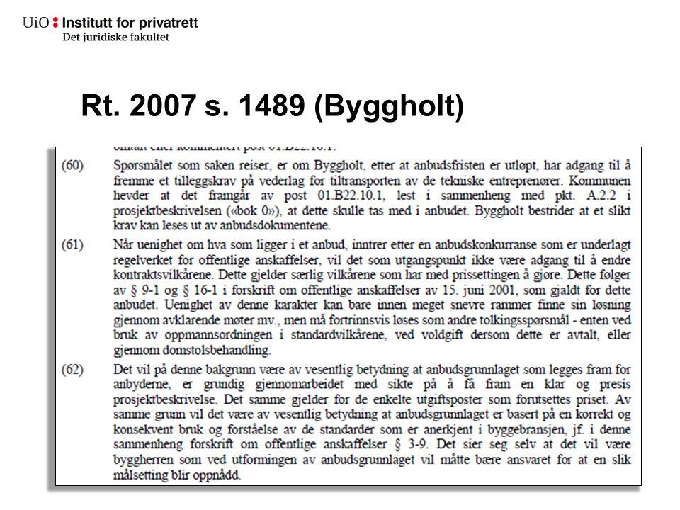 Rt. 2007 s. 1489 (Byggholt)