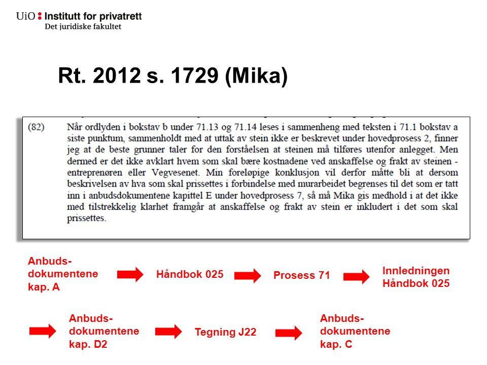 Anbuds- dokumentene kap. A Håndbok 025 Prosess 71 Innledningen Håndbok 025 Anbuds- dokumentene kap. D2 Tegning J22 Anbuds- dokumentene kap. C