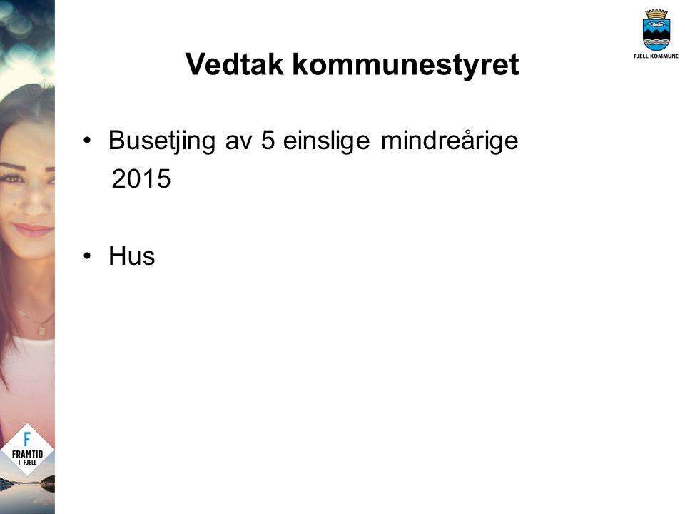 Busetjing av 5 einslige mindreårige 2015 Hus Vedtak kommunestyret
