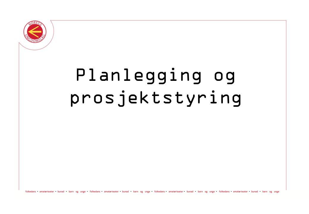 Verktøykassa © Noregs Ungdomslag Planlegging og prosjektstyring