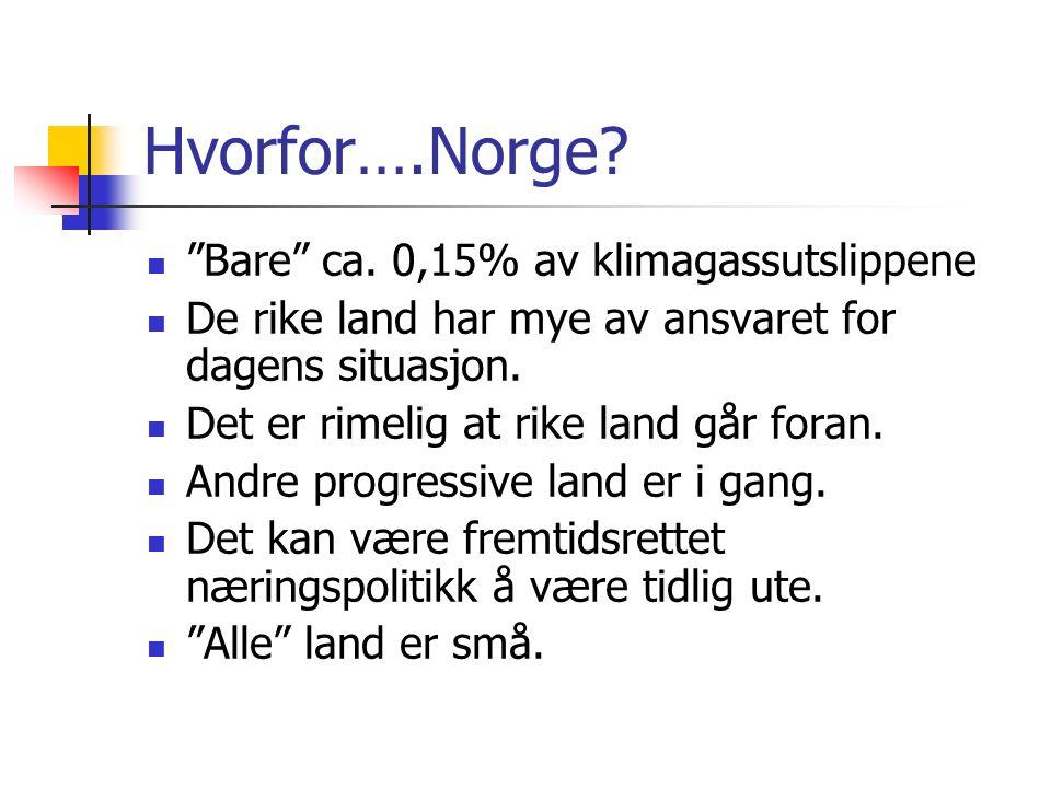 Hvorfor….Norge. Bare ca.