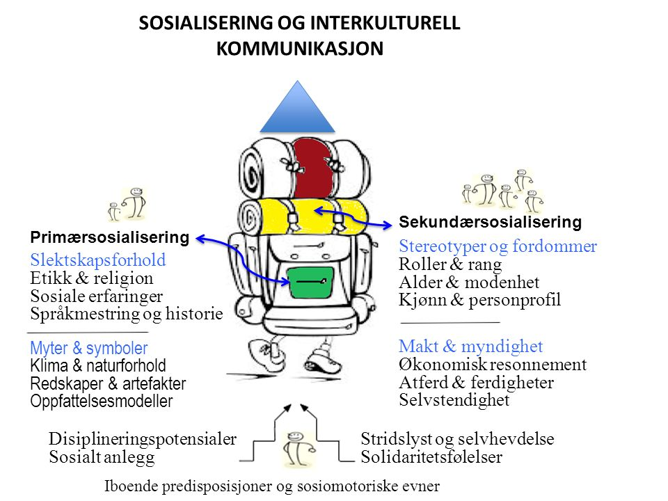 Tertiærsosialisering Kognisjon & emosjon «Magefølelsen» agerer gjennom stiler og identiteter.