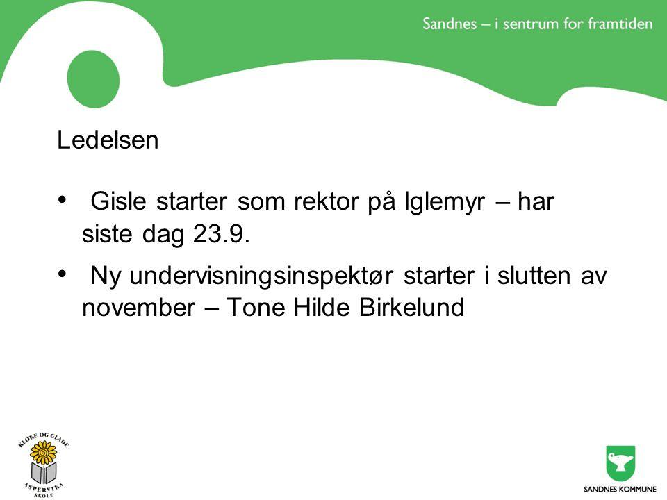 Ledelsen Gisle starter som rektor på Iglemyr – har siste dag 23.9.