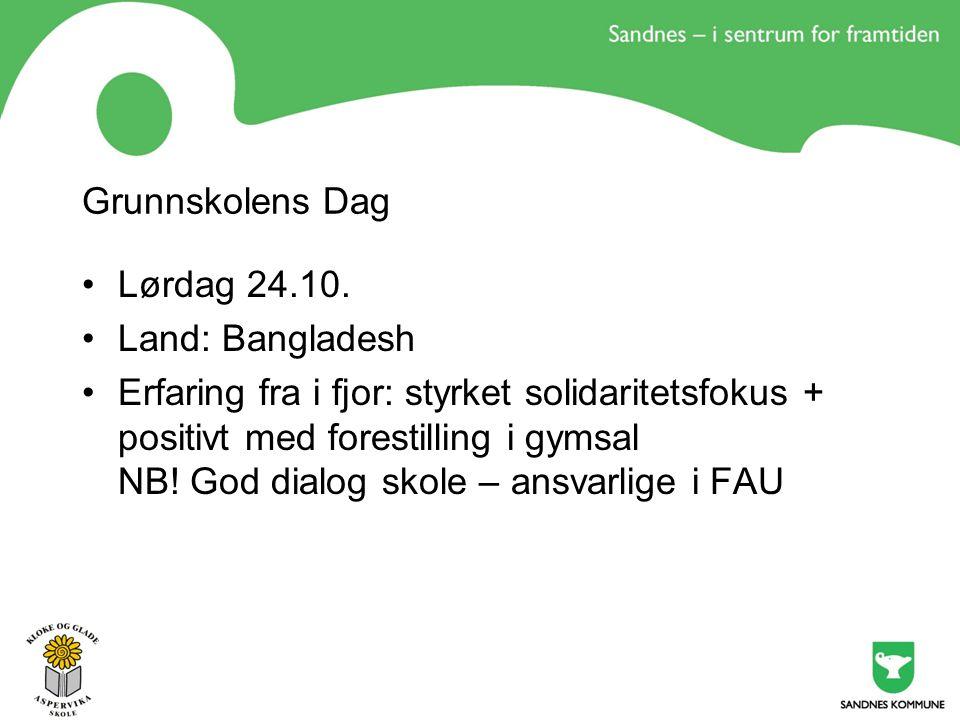 Grunnskolens Dag Lørdag 24.10.