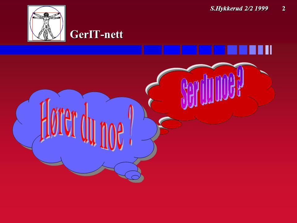 S.Hykkerud 2/2 1999 2 GerIT-nett
