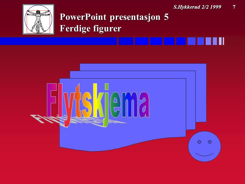 S.Hykkerud 2/2 1999 7 PowerPoint presentasjon 5 Ferdige figurer