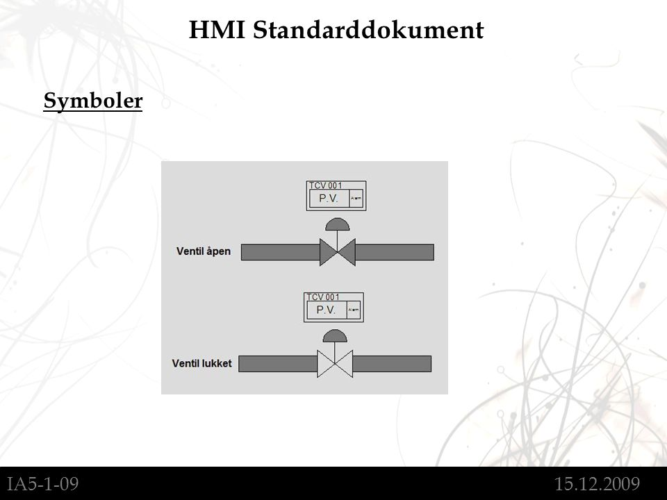 IA5-1-09 15.12.2009 HMI Standarddokument Symboler