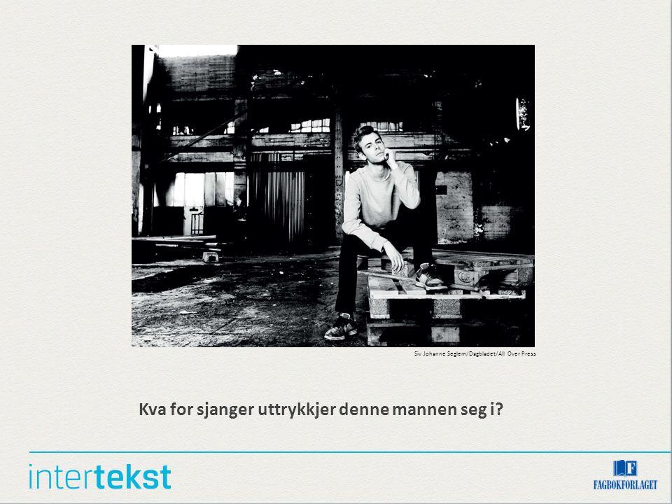 Kva for sjanger uttrykkjer denne mannen seg i? Siv Johanne Seglem/Dagbladet/All Over Press