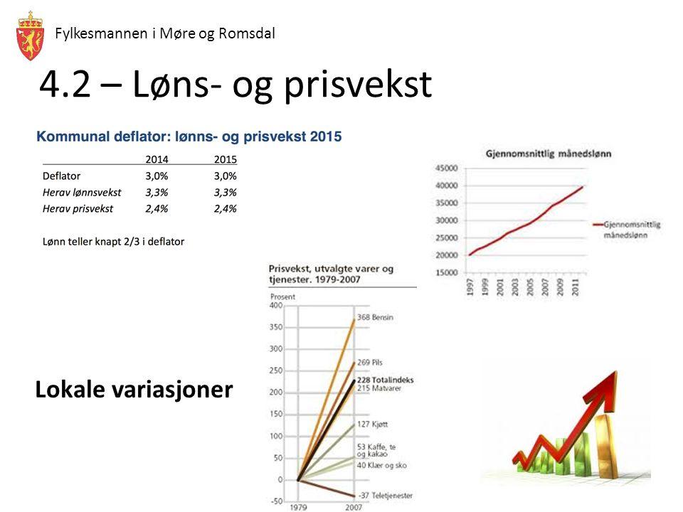 Fylkesmannen i Møre og Romsdal 4.2 – Løns- og prisvekst Lokale variasjoner