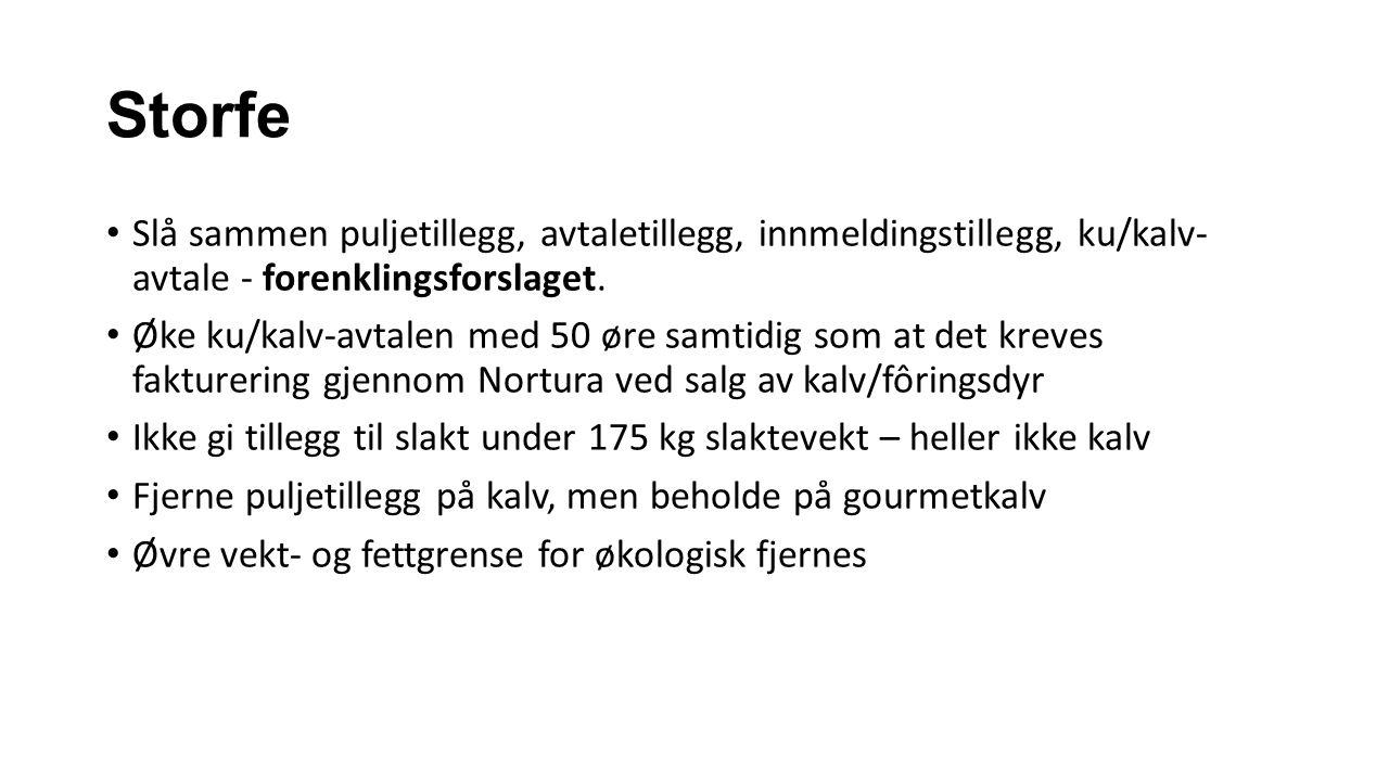 Storfe Slå sammen puljetillegg, avtaletillegg, innmeldingstillegg, ku/kalv- avtale - forenklingsforslaget.