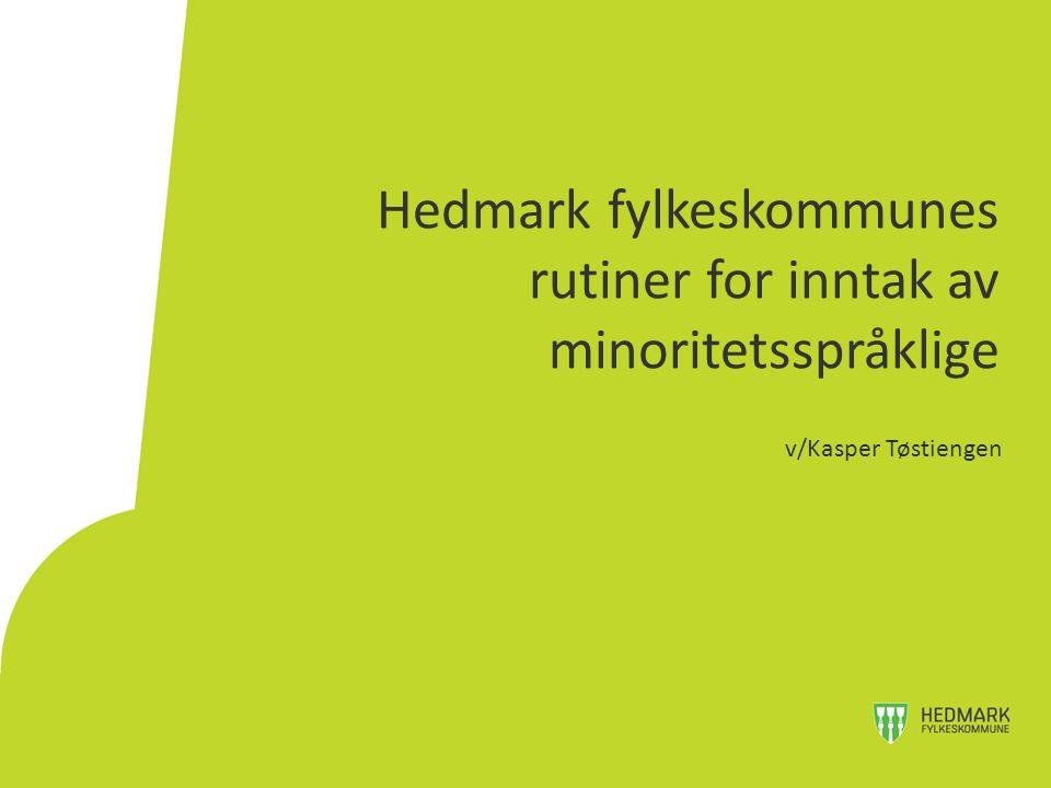 Hedmark fylkeskommunes rutiner for inntak av minoritetsspråklige v/Kasper Tøstiengen