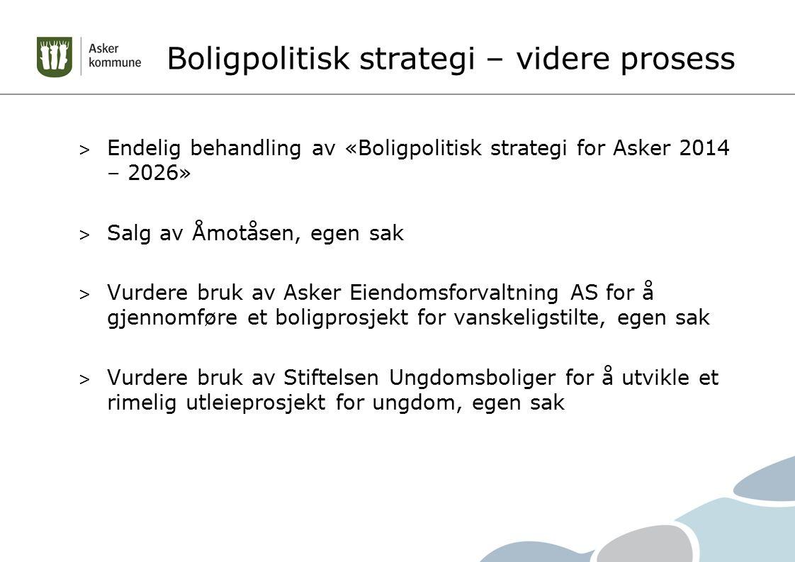 Boligpolitisk strategi – videre prosess > Endelig behandling av «Boligpolitisk strategi for Asker 2014 – 2026» > Salg av Åmotåsen, egen sak > Vurdere