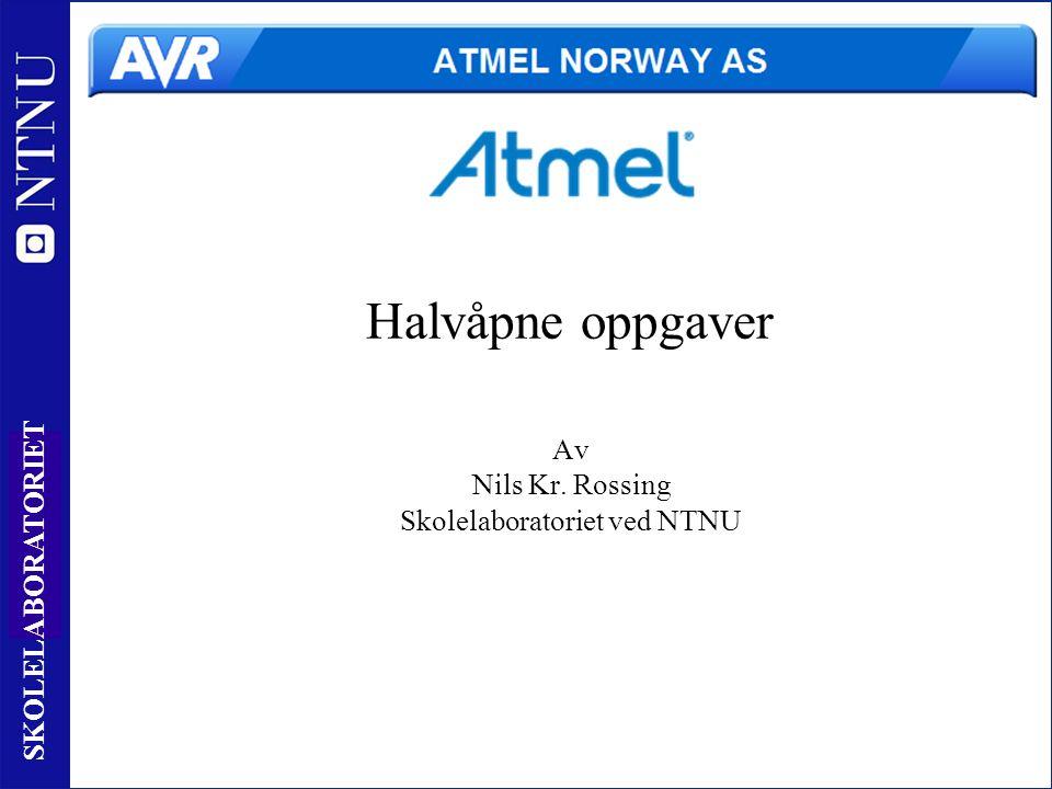 1 SKOLELABORATORIET Halvåpne oppgaver Av Nils Kr. Rossing Skolelaboratoriet ved NTNU