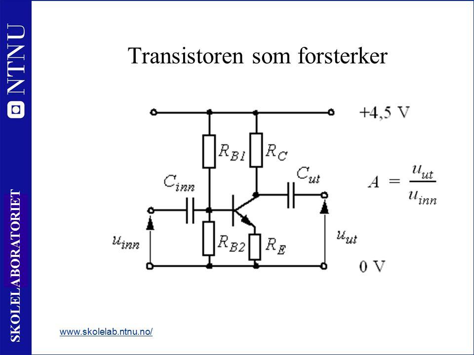5 SKOLELABORATORIET Kretsforståelse Transistoren som bryter www.skolelab.ntnu.no/ Simuler en detektor Kap 5.3 side 115 - 119