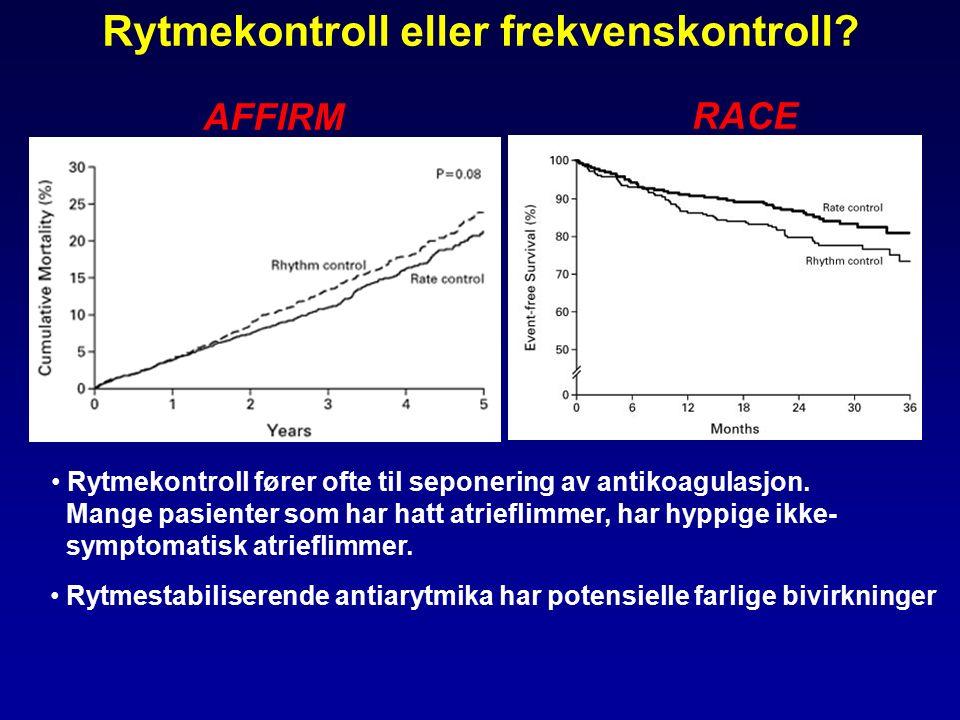 AFFIRM RACE Rytmekontroll eller frekvenskontroll.