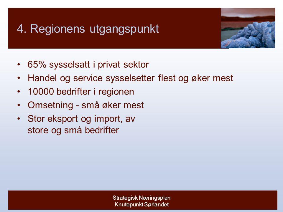 Strategisk Næringsplan Knutepunkt Sørlandet 4.