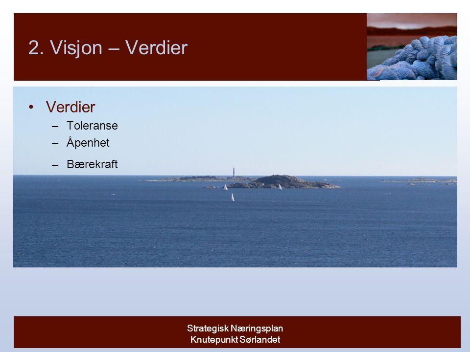 Strategisk Næringsplan Knutepunkt Sørlandet 2.