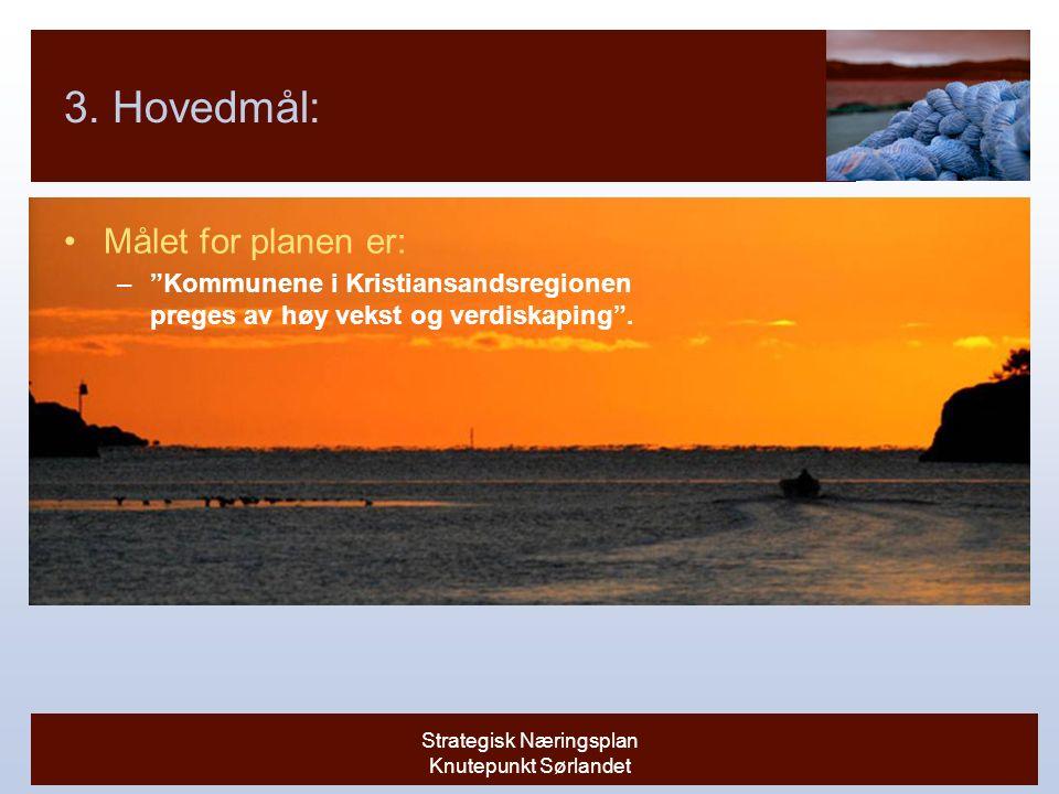 Strategisk Næringsplan Knutepunkt Sørlandet 3.