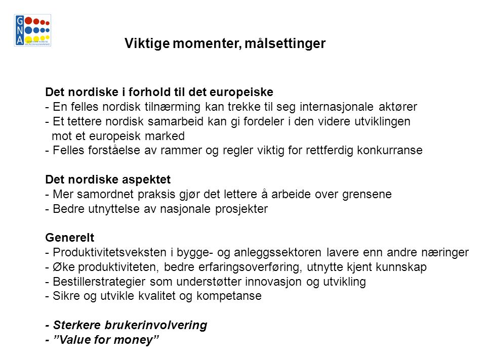 Sluttrapport, oppdrag fra Nordisk minister- råd.