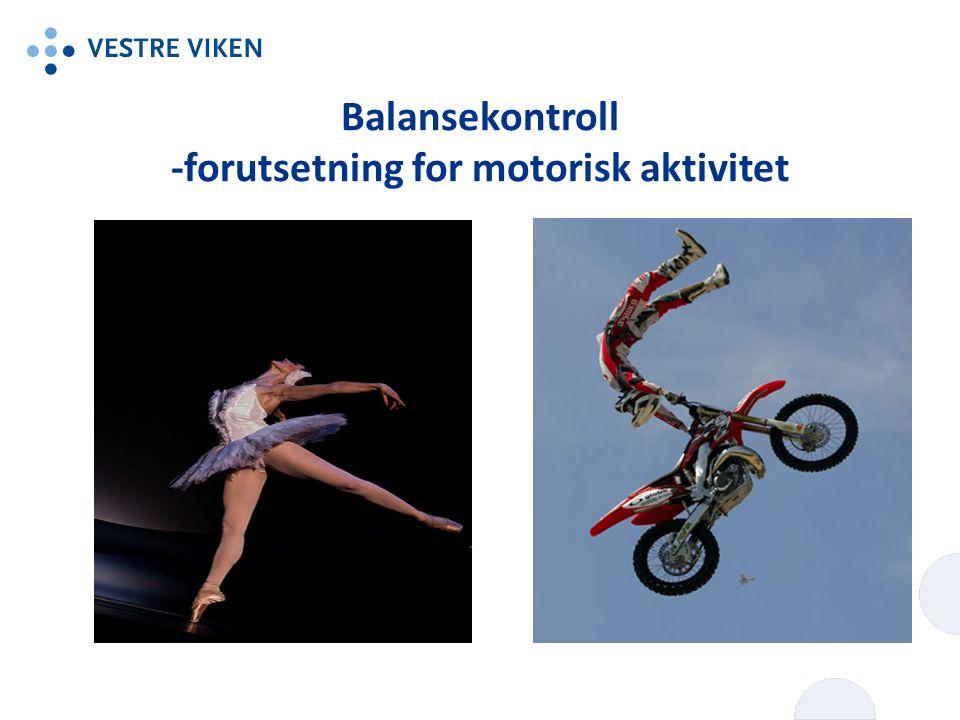 Balansekontroll -forutsetning for motorisk aktivitet